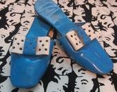 1960s Mod Blue Shoes Mad Men