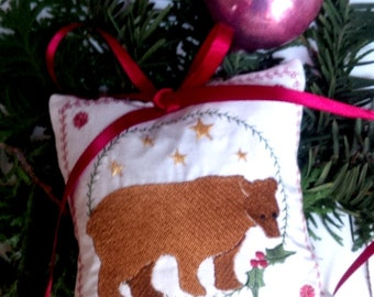 Christmas Bear Tree Ornament