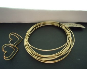 Set of 10 Vintage Wire Bangles by Apostrophe