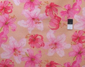 Martha Negley PWMN081 Market Mix Lily Pink Cotton Fabric 1 Yard