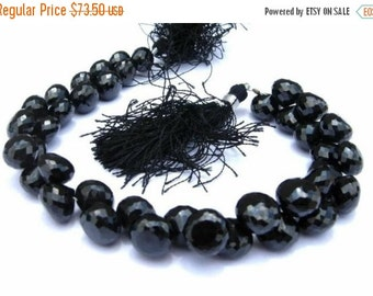 55% OFF SALE 1/2 strand - Sparkling & Lustrous Genuine AAA Black Spinel Micro Faceted Onion Briolettes Size 8.5 - 9.5mm approx