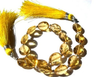 8 Inches Finest Quality Citrine Quartz Faceted Oval Briolettes Size 10x8mm Approx, High Quality Great Price