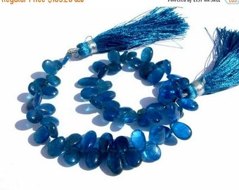 50% Off Valentine day Full 8 Inches - Genuine Shaded Apatite Smooth/ Polished Pear Briolettes Size 7x5 - 8x6mm Approx