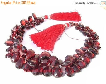 50% Off Valentine day 1/2 Strand 34 Pieces AAA Pyrope Garnet Faceted Pear Shaped Briolettes 9x6 - 7x5mm approx