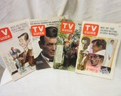 4 Copies of TV Guide from the 1960's
