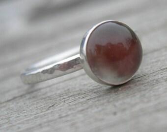 Spectacular Oregon Sunstone Sterling Ring Size 7