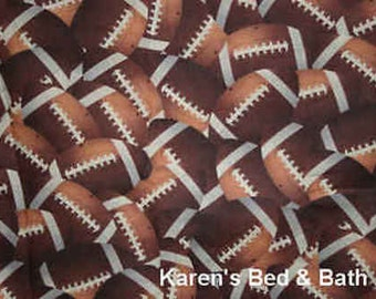 Footballs All Over Game School PE Football Sports Cotton Fabric BTY or HY t6/29