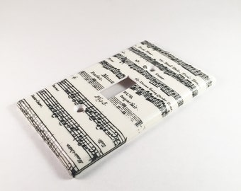 Music Sheet Switch Plate Cover
