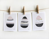 Three Small Eggs Print Set