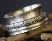 Sterling Silver Ring, Spinner Ring, Wedding Ring, Wedding Band, Engagement, Unisex, Wide Band, Fidget, Worry, Anxiety, Women, Men, Girls,