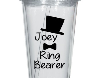 DIY Personalized Ring Bearer or Flower Girl Tumbler Decal, Wedding Party Tumbler Decal, DIY Wedding Decal,Cups NOT Included