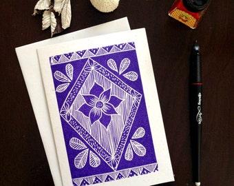 Folk pattern card
