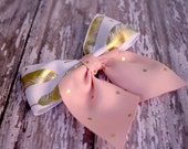 Small Pink and Gold Boutique Bow