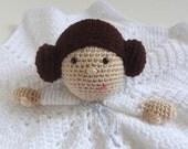 Leia Inspired Rebel Princess Lovey - Hand Crocheted Stuffie Blanket