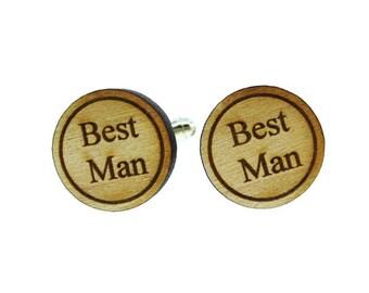 Best Man Wood Cufflinks  (MCW004)