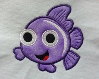Fish  Applique  Design - 3 Sizes - Custom Designs Welcome