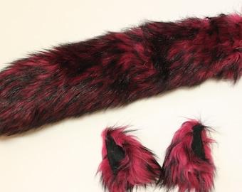 Husy Wolf Costume - Wolf Ears - Wolf Tail - Anime, Cosplay, Furry, Plushie, Halloween, Burning Man