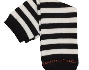 Organic Baby Leg Warmers Black & White