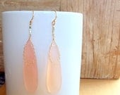 Pink Chalcedony Earrings // Gold Filled Earrings // Pink Teardrop Earrings // Gold Chain Earrings // Handmade Earrings // Wilde Element