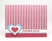 daughter Valentine's Day card - granddaughter Valentine's Day card - heart Valentine