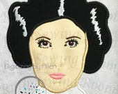 Star Wars Princess Leia, Applique Embroidery Design This is Not a PATCH