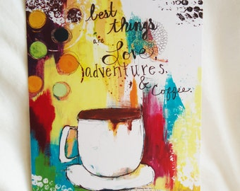 Love, Adventures, and Coffee Card