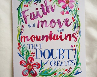 Faith Will Move Mountains Card