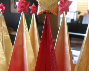 Origami Christmas Tree, Contemporary and Geometic Simplicity