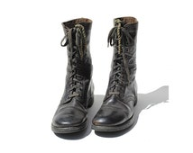 Size 11 Men's Dark Brown Leather ARMY Combat Boots