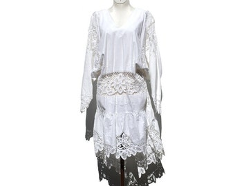 White Cotton Lace Dress or Top