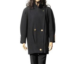 Women's Navy Blue Wool Jacket
