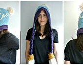 READY MADE // Crystal Maiden Knit Snowdrop Hood