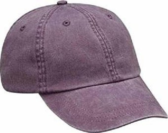 WILD PLUM HAT - One Women or Men Adams Baseball Cap - 24 Color Hats Available - Price Apparel Embroidery