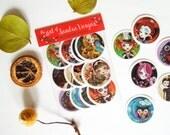 Art Sticker Pack #3, Set of 12 Stickers Labels Seals by Sandra Vargas Original Art