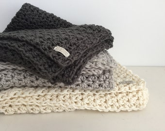 Baby blanket / soft and snuggly / vegan / Charcoal Gray