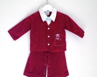 Vintage baby boy suit nannekins by nannette 12 months