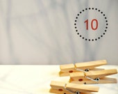 SALE {10} Large {50mm or 2.0in} Natural Wood Clothes Pegs Gift Wrap New Baby Baptism Child Party Scrapbooking Photo Prop DIY Supplies