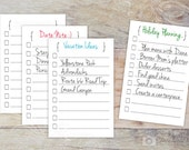 Project Checklist, Daily Planner Refill Cards, Double-sided To Do List, Blank Planner Cards for Journal