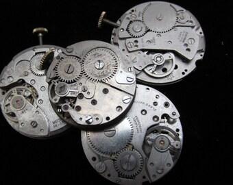 Steampunk Watch Movements Vintage Antique Round  Altered Art Assemblage TM 95