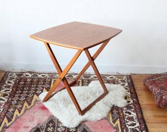 Danish Modern Teak Folding Side Table for BRDR Furbo