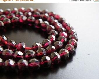 49% Off Sale Garnet Gemstone Dark Maroon Faceted Round 5mm Full Strand 70 beads