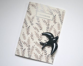 brown branches notebook A5 blank