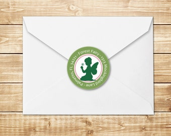 DIGITAL Wood Sprite, Forest Fairy Return Address Label or Sticker