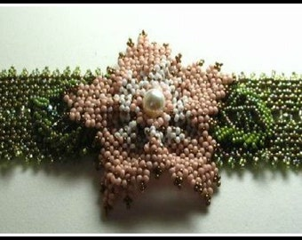 Handmade Pondo Stitch Flowered Bracelet