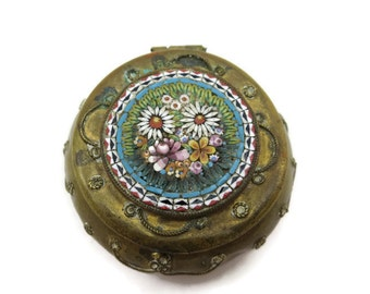 Micro Mosaic Patch Box - Miniature, Snuff Box