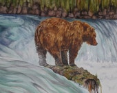 Alaskan Brown Bear - Original Watercolour Painting
