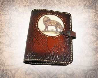 Leather Journal Cover - The Striped Hyena