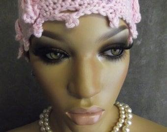 Crochet Cap, Crochet Beanie,Skullcap, Women, Girls,Chemo Cap, Cotton Beanie,Women, Accessories, Hats, Pink Cotton Cap, Teens