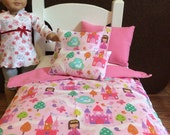"American Girl, Out Generation 18"" Doll Bedding Princess and Castle Theme"
