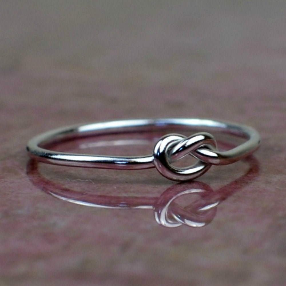 sterling silver knot ring knot ring thin silver